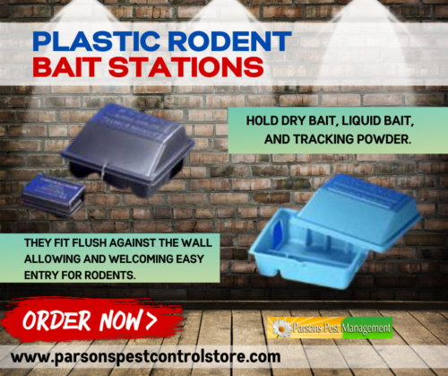 Plastic Rodent Bait Stations mice baiters by Bell Labs